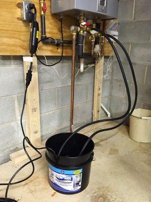 système détartrage chauffe eau avec gel