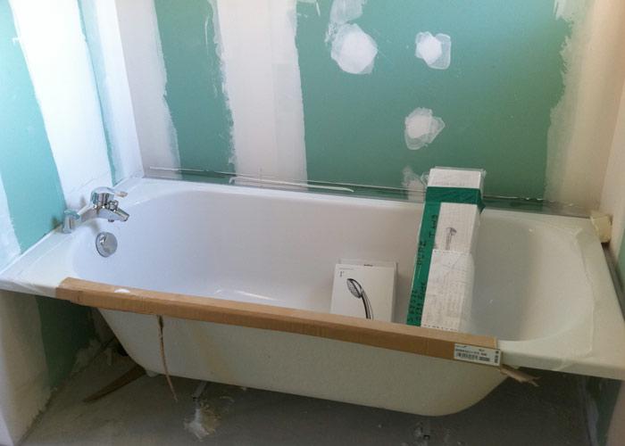 travaux de pose baignoire