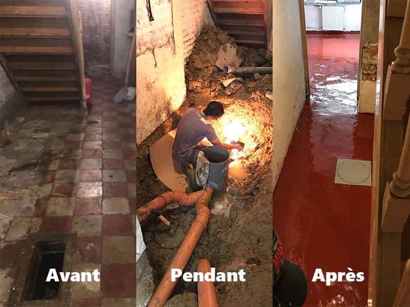 renovation canalisation avant/arès